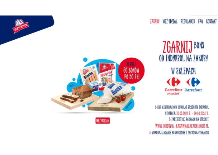 Konkurs Indykpol w sieci Carrefour