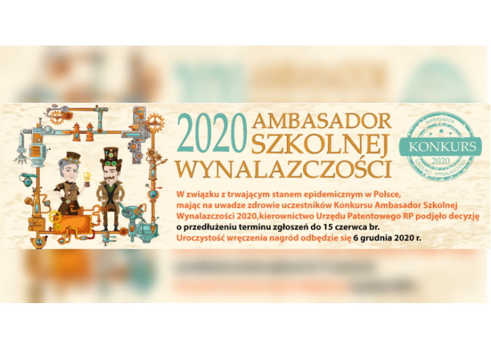 Konkurs - Ambasador Szkolnej Wynalazczości 2020