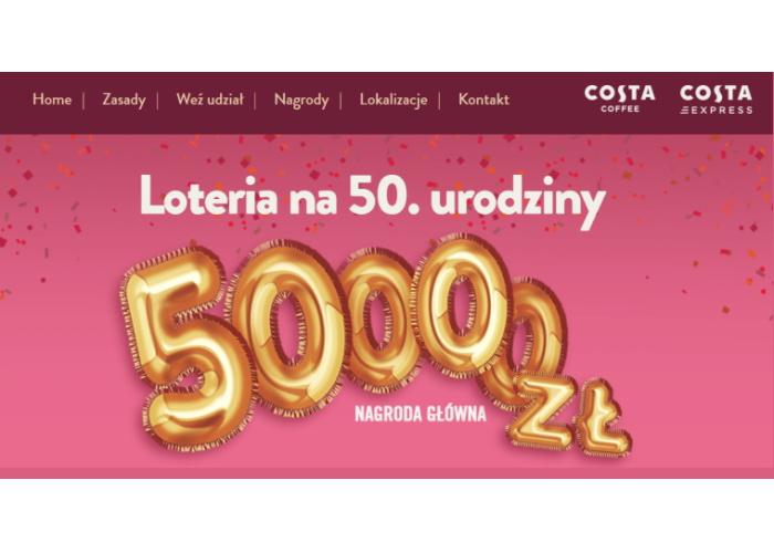 Loteria urodzinowa Costa Coffee