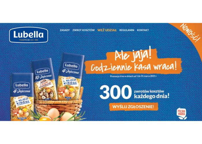 Promocja konsumencka Lubella - Akcja cash back